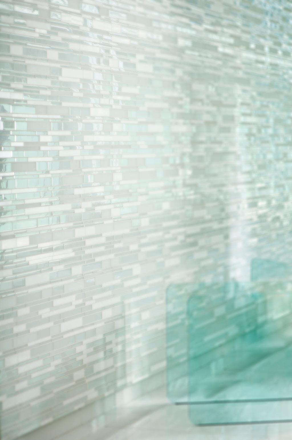 Portes de douche en verre rampe et garde corps en verre for Miroir texture