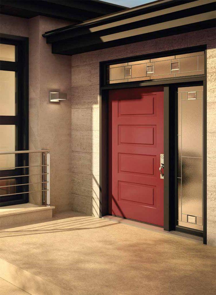 Portes d 39 acier et fen tres r sidentielles vitrerie brunelle for Porte novatech