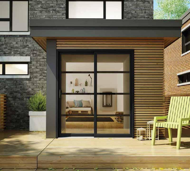 Portes d\'acier et Fenêtres Résidentielles   Vitrerie Brunelle